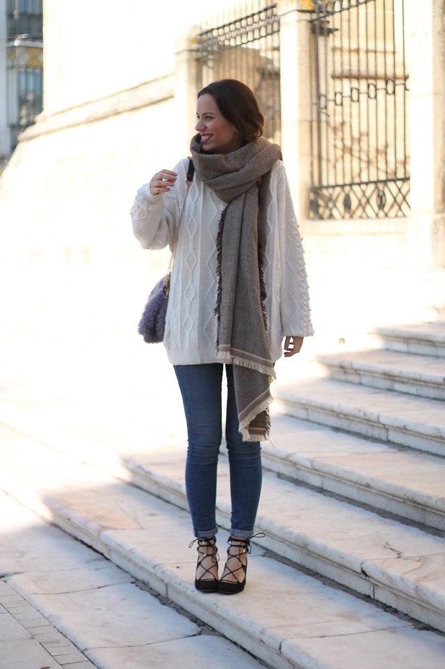 maxi jersey con jeans